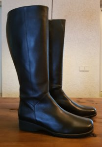 "Maat 41 Kuit 42 Zara Zwart Leder *CLEARANCE"""