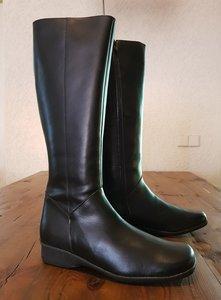 "Maat 41 Kuit 36 Zara Zwart Leder *CLEARANCE"""