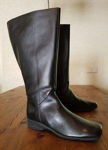 "Maat 42 Kuit 53 Zara Zwart Leder *CLEARANCE"""